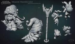 Lulu Dragon Trainer Sculpture
