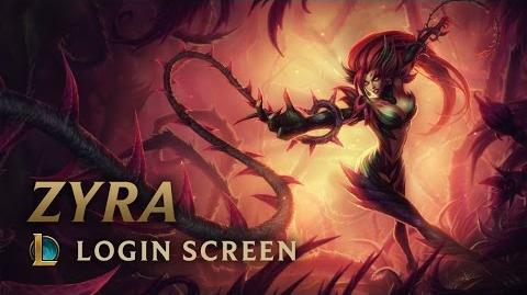 Zyra, Rise of the Thorns - Login Screen
