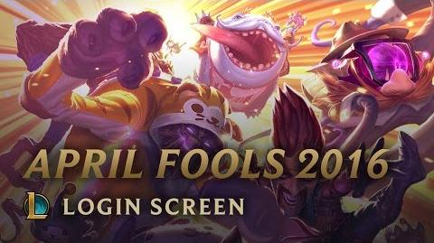 April Fools 2016 - Login Screen