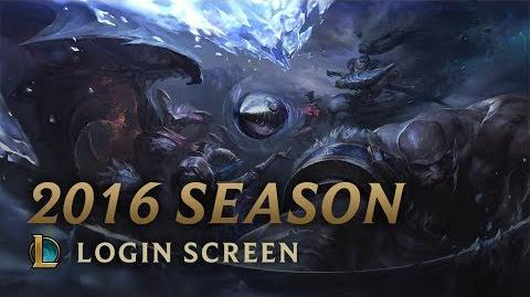 2016 Season - Login Screen