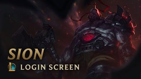 Sion, the Undead Juggernaut - Login Screen