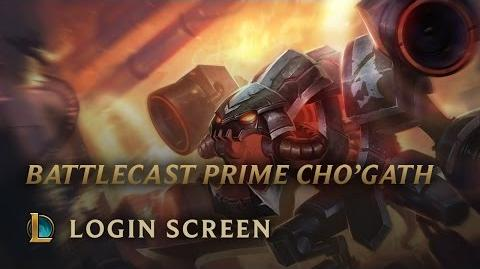 Battlecast Prime Cho'Gath - Login Screen