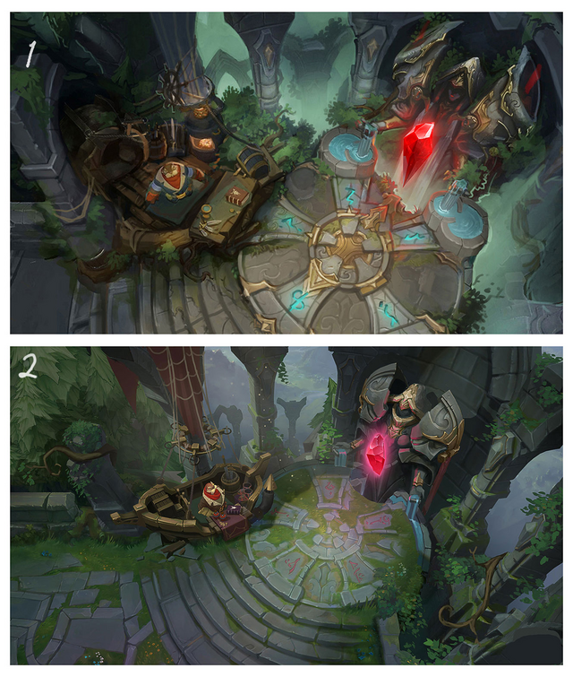 Summoner's Rift Update Environment Red Base