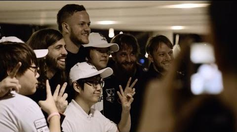 Behind the Scenes Imagine Dragons at Worlds