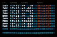 Airport flight sign
