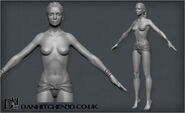 Jael High Poly Naked