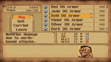 Gold Dragon Armor in Store