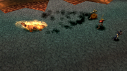 Salamander uses Gushing Magma