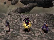 Spider Urchin uses Head swing