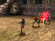 Berserker attacking