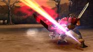 Commander uses Sword