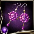 Purple Butterfly Earrings EX