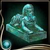 Turquoise Sphinx Figure