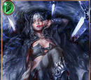 (T. W.) Bloody Black-Hooded Girl
