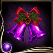 Purple Christmas Bells