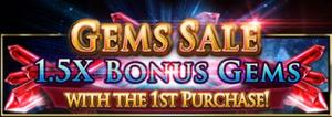 1.5X Bonus Gem Sale