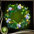 Green Wreath of Flowers