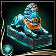 Turquoise Sphinx Figure EX