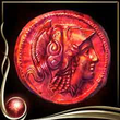 Red Ancient Coin EX