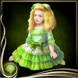 Green Bisque Doll