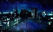 Girl-staring-at-the-city-at-night-wallpaper-800x480