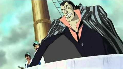 Akainu as vice-admiral
