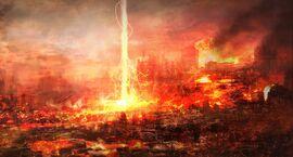 Burning city concept by sancient-d3d9kuz