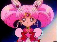Sailor mini moon looks pensive eternal