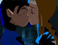 Shadow & FrrostAngel kissing