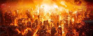 Burning-city