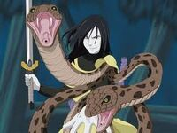 Orochimaru with snakes