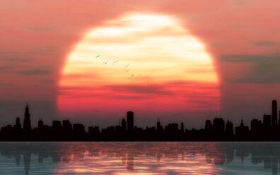 Sunset city blues by welshdragon-d6szdwc