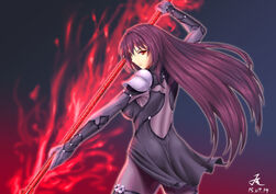 Scathach fate grand order and fate series drawn by 210ten sample-da2d182224bf86352c0b89365c78db2f