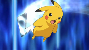 Pikachu iron tail