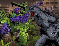Godzilla vs. devastator