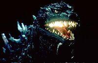Godzilla mouth glowing