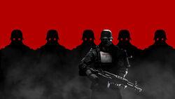 Wolfenstein the new order soldiers helmets weapons swastika germans masks machinegames bethesda softworks 95426 1920x1080
