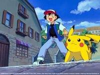 Ash and pikachu are ready