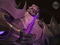 Megatron with dark energon