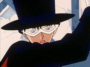 Tuxedo mask looking tired