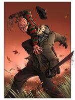 Freddy and jason fight