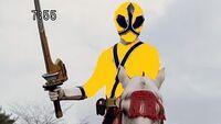 Kamen Rider on horseback