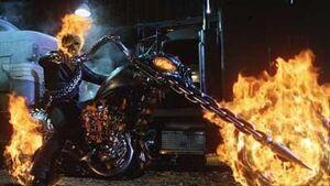 Ghost rider flaming bike