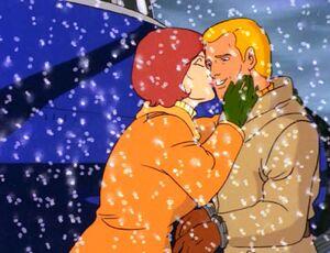 Duke and scarlett kiss