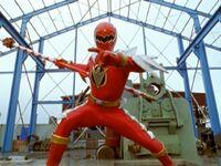 Red Dino Thunder Ranger Super Dino Mode