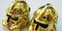 Pure Gold Stormtrooper Helmets