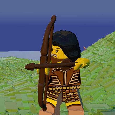 Warrior Woman firing a Bow.