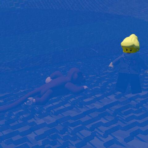 Monkey see, monkey swim?