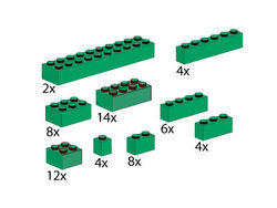 5215-Bricks Assorted, Green