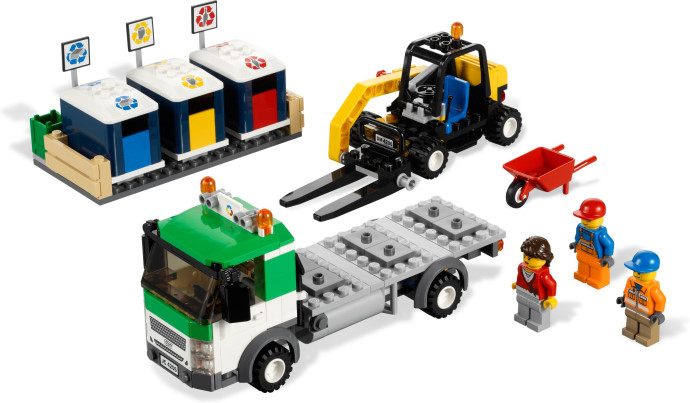 recycling truck 4206 legopedia fandom powered by wikia. Black Bedroom Furniture Sets. Home Design Ideas